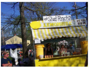 Picture of Shad Lemonade Punch stand at Shad Festival